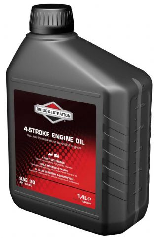 100006E BRIGGS & STRATTON SAE 30 OIL 1.4 LITRE For Most Ride On Tractor Mowers, Generators and Lawn & Garden Equipment Husqvarna, Honda, Castel Garden